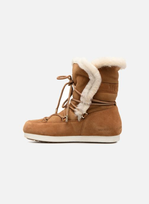 Zapatillas de deporte Moon Boot Moon Boot Far Side HIigh Shearling Marrón vista de frente